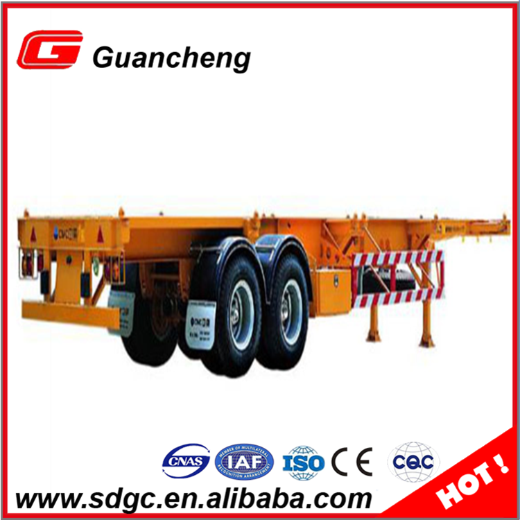 2 axle skeleton semi trailer shipping container twist lock price for sale