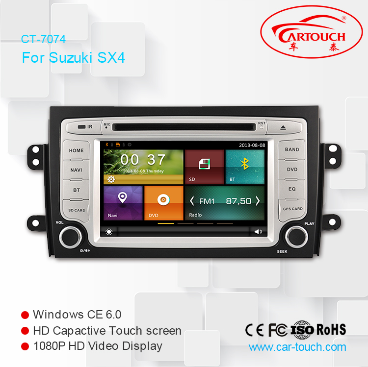 car dvd gps navigation system for Suzuki SX4 with autoradio dvd player gps