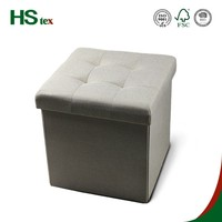Hstex Home Furniture Gray Fabric Storage