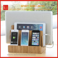 Desktop Wooden Bamboo Universal Phone Docking Station