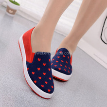 Casual latest design lady shoes made in china canvas shoes