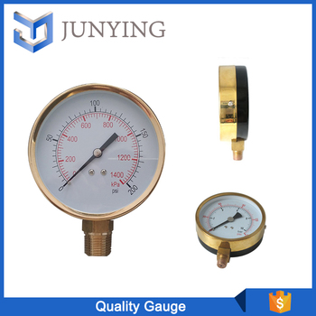 Durable quality Air Pressure Gauge Black Plated Aluminum Case