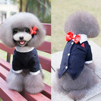 Good quality newly design pet wedding or evening dress spring summer dog clothes