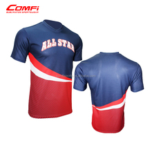 Custom Design Dye 100% Polyester Sublimation T shirt navy sport t shirts