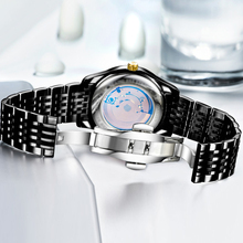 Fashion Cool Black Steel 3 Atm Water Resistant Watch
