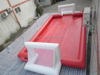 football pitch inflatable game , LZ-411 new design water soap inflatable football field