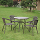 outdoor stackable patio furniture 5 piece cafe dinning table set