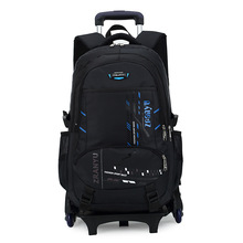 New pattern removable trolley school bag backpack for kids manufactures china