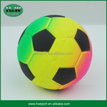 Neon Color Soccer Shape Rubber Material Back Up Ball