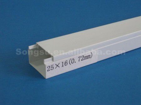 Solid type pvc cable protection cover 25x16