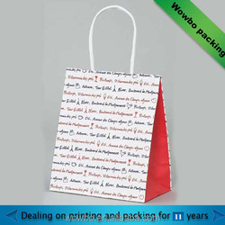 popular letter shopping bag from alibaba