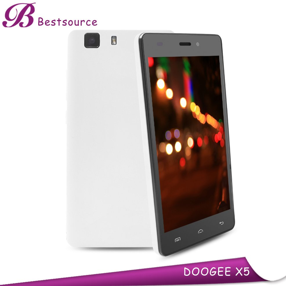 low price china mobile phone 5inch 1280*720 HD 2G 16G doogee x5 3G smartphone