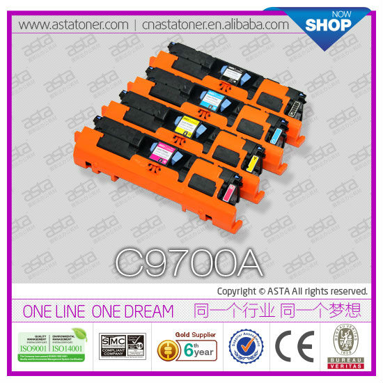 Color Toner Cartridges C9700A For HP Laserjet 1500