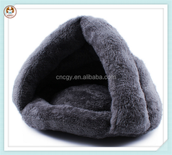 Wholesale soft warm velvet dog sleeping bag cat bed