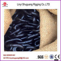 welded iron long link chain factory