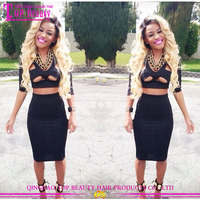 Sexy lady styles unprocessed human hair #1b/613 two tone wigs for black women