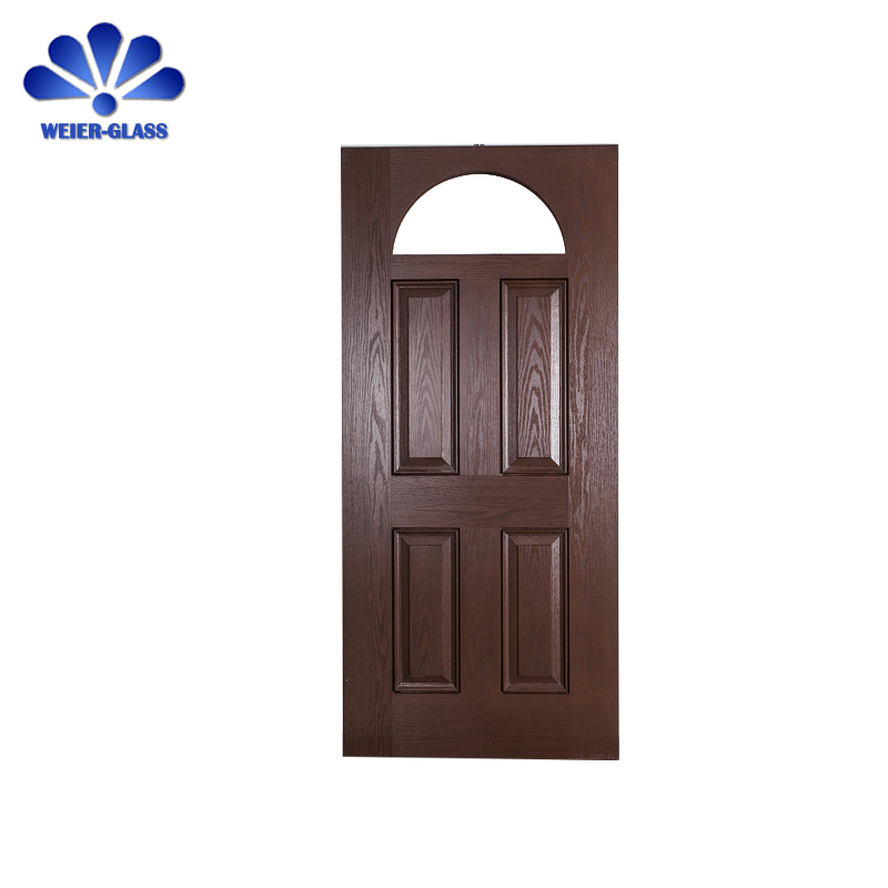 China high quality customized tempered Fiber glass front doors for homes