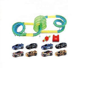 sound control race track toy plastic mini slot car