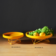 2017 Hot selling round metal plate fruit tray for home decoration