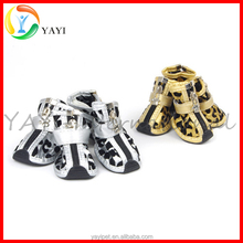 Dog Accessories PU Shoes Non-slip Rubber Pads 2016 New Design