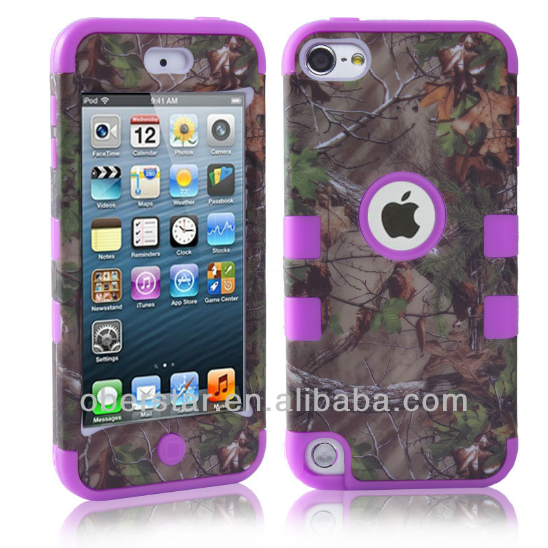 High Quality Three in One Silicone Cover Hard Case Protector Shell For Apple iPod Touch 5