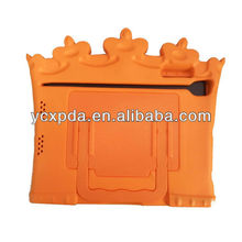 cute crown design hand holder case for ipad mini accessories
