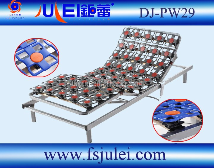 high-end series comfort plastic flower design electric adjustable bed frame DJ-PW29