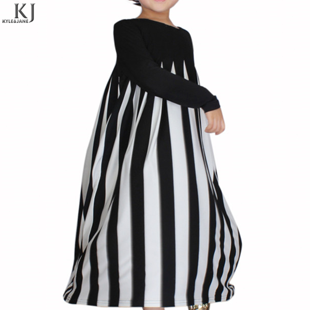 2018 Fashion Style FSO Modern Strip Muslim Clothing mother and daughter clothes dresses for islamic gilr kids abaya