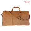 Luxury genuine leather travel bags large roomy duffle bag with a removable long strap