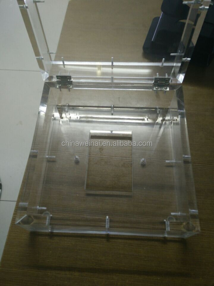 clear acrylic rectangle storage box with lid