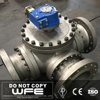 API 6D Flange Full Port Reduced WCB Stainless Steel LCB Hard Metal Trunnion 3 Way Mounted Ball Valve