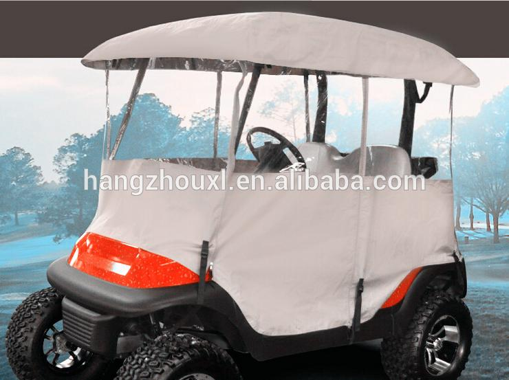Plastic golf cart full cover 4 person /golf cart cover new made in China with free samples