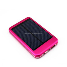 Low cost cheap 5000mah Aluminum Solar charger for smartphone, Tablet and mobile device