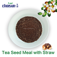 earthworm suppressant Tea Seed Meal with/without Straw for turf management,golf courses