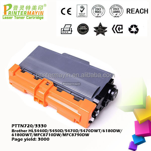 Premium Printer TN720 Toner Cartridge FOR Brother HL5440D/5450D/5470D/5470DWT/6180DW/6180DWT/MFC8710DW/MFC8790DW(PTTN720/3330)