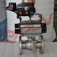 cast steel flange pneumatic control valve actuator for air