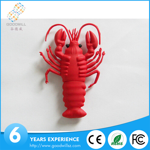 Customized new usb buy wholesale lobster shape pen drive bulk cheap pen drive