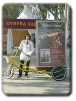 three wheeler electric advertising tricycle