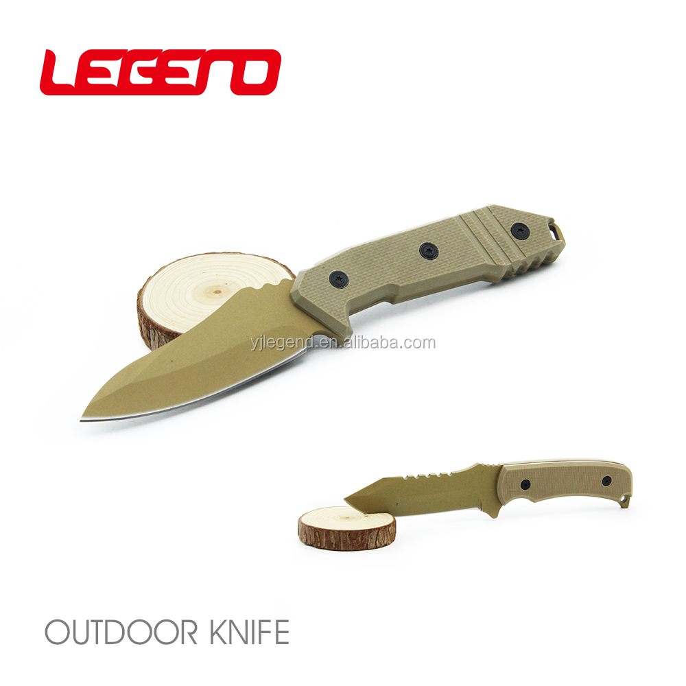 HK323 High quality handmade stainless fixed blade hunting knife emergency rescue knife survival knife with G-10 handle