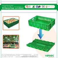 stackable vented fruit plastic crate