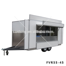 Fiberglass Mobile Outdoor Coffee Cart Kiosk With Menu Board SD-FVR55