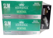 Cigarette Filter Tubes Slim Menthol Korona 500 + Slim Filling Machine - PROMOTIONAL PACKAGE !