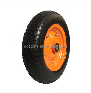3.50-8 non-inflatable PU foam wheelbarrow tyre from china manufacturer