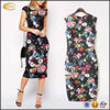 Ecoach 2016 New Spring Summer Women Elegant Slim Dress Floral Printed Dress print dress