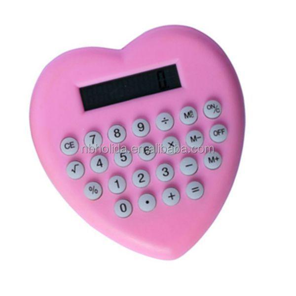 Promotional heart shape calculator HLD-831