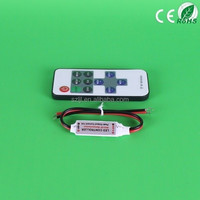 Mini Controller RF Wireless Remote Controller 12A DC 5~24V for 5050 Led RGB Strip