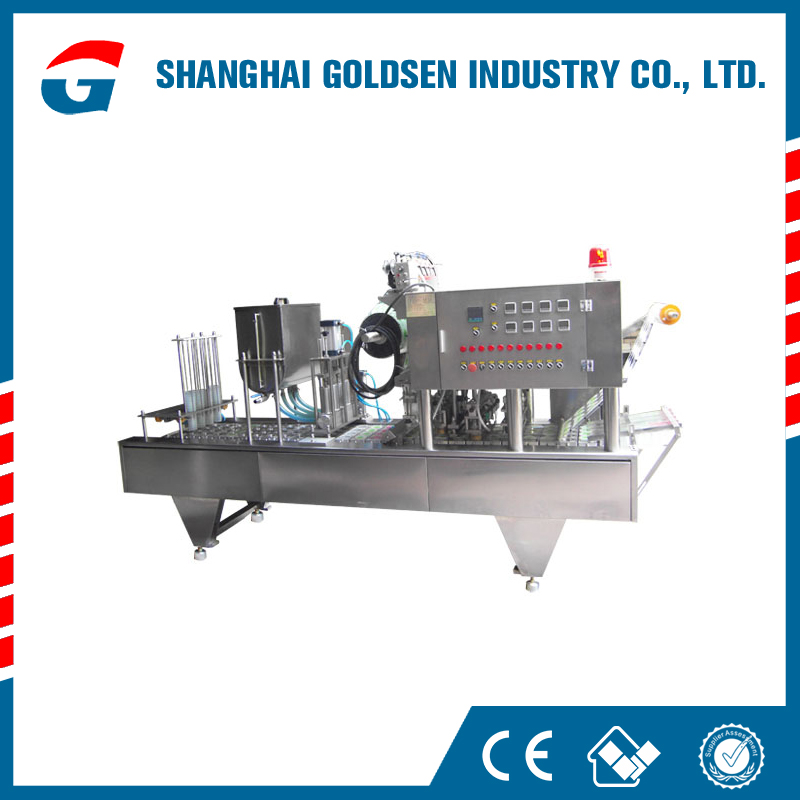 Low cost chinese rice pudding cup filling machine,smoothie plastic cup sealing machine.milk sealing machine