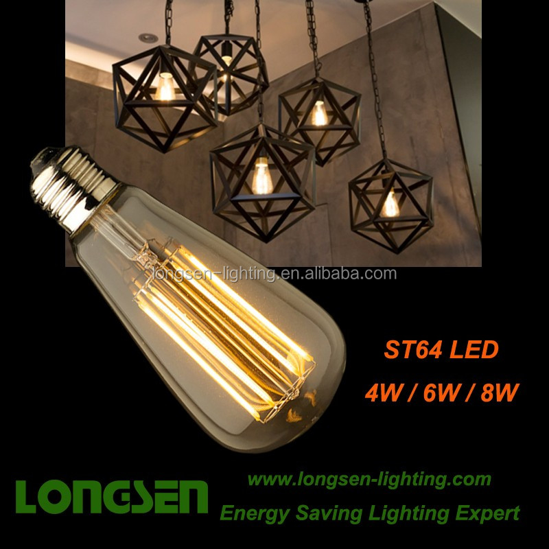 ST45 ST64 LED Filament Light Vintage Ceiling Lamp 8W 880lm CE ROHS SAA with good quality