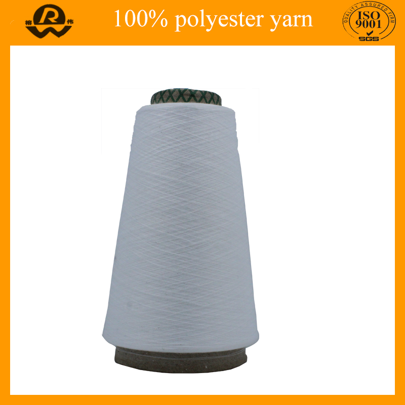 Raw White Single Feature Polyester Yarn For Knitting T Shirt Yarn