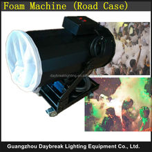 Stage special effect power snow machine for stage party show with roadcase ( flight case) big snow maker